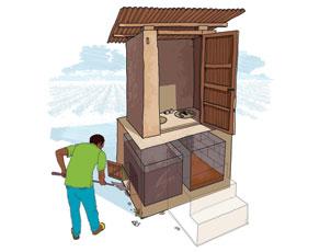 Composting latrine
