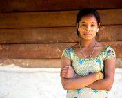 Rabina, 17, in Nepal