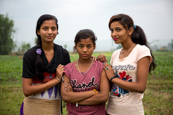 Young girls in Nepal