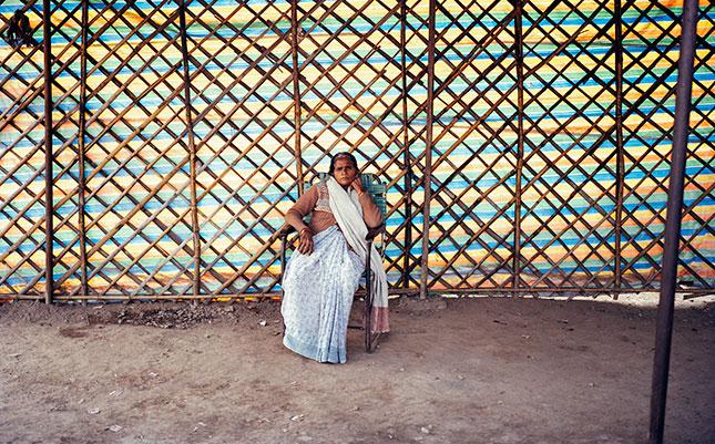 Kalavati, 50, has made it her mission to build toilets in Rakhi Mandi slum.